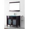 """Virtu Ultra Modern Series 36"""" Single Bathroom Vanity Set with Mirror"""