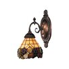 Landmark Lighting Mix-N-Match 1 Light Wall Sconce with Grapevine Glass Shade