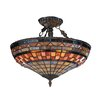 Landmark Lighting Jewelstone 3 Light Semi Flush Mount