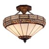 Landmark Lighting Stone Filigree 3 Light Semi Flush Mount
