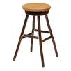 "Fireside Lodge Hickory 30"" Swivel Bar Stool with Cushion"