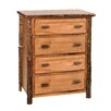 Fireside Lodge Hickory 4 Drawer Chest