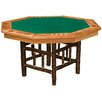 "Fireside Lodge 53"" Hickory 8-Sided Poker Table"