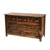 Fireside Lodge Premium Barnwood 7 Drawer Dresser
