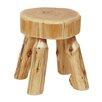 Fireside Lodge Traditional Cedar Log Foot Accent Stool