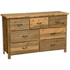 Fireside Lodge Beetle Kill 7 Drawer Dresser