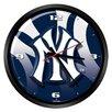 "Hunter Licensed Sports MLB New York Yankees 15"" Glass Clock"