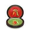 "Certified International Caliente by Joy Hall 8.75"" Salad Plate (Set of 4)"