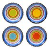 Certified International Tequila Sunrise Canape Plate (Set of 4)