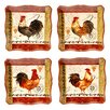 Certified International Tuscan Rooster Dinner Plates (Set of 4)