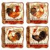 Certified International Tuscan Rooster Dessert Plate (Set of 4)