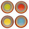 Certified International Tequila Sunrise Salad Plate (Set of 4)