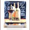 "Certified International House Wine 10.5"" Dinner Plate (Set of 4)"