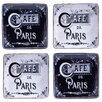 "Certified International Paris Travel 6"" Canape Plate 4 Piece Set"