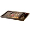 Certified International House Wine Wood Cheese Board with Ceramic Tile and Knife