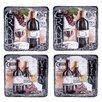 "Certified International Grand Vin 8.25"" Salad Plate 4 Piece Set"