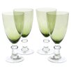 Certified International Glass Stemware Olive Green All Purpose Goblets (Set of 4)