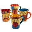 Certified International Salsa 4 Piece Mug Set