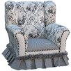 Angel Song Toile Black Child Wingback Chair
