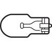 Kichler 6.5W Wedge T5 Sockets Clear Light Bulb (Set of 10)