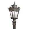 Kichler Tournai 4 Light Outdoor Post Lantern