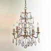 Troy Lighting Siena 4 Light Crystal Pendant