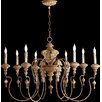 Quorum Salento 8 Light Candle Chandelier