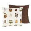 Sweet Jojo Designs Night Owl Cotton Throw Pillow