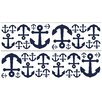Sweet Jojo Designs Anchors Away Wall Decal (Set of 4)