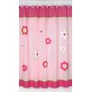 Sweet Jojo Designs Flower Pink and Green Cotton Shower Curtain