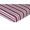 Sweet Jojo Designs Nautical Nights Striped Fitted Crib Sheet