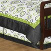 Sweet Jojo Designs Lime and Black Spirodot Toddler Bed Skirt