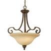 Golden Lighting Rockefeller 3 Light Bowl Inverted Pendant
