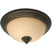 Golden Lighting Heartwood 2 Lights Flush Mount