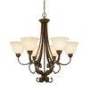Golden Lighting Rockefeller 6 Light Chandelier