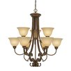 Golden Lighting Rockefeller 9 Light Chandelier
