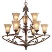 Golden Lighting Loretto 9 Light Chandelier