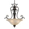 Golden Lighting Jefferson 3 Light Bowl Inverted Pendant
