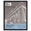 DAX® Flat Face Wood Poster Frame with clear plastic window, 16 x 20, Black