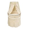 Badger Basket Elegance Bassinet with Waffle Bedding