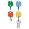 MMF Industries Steelmaster Oval Snap-Hook Key Tags, 20/Pack