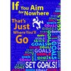 Trend Enterprises If You Aim For Nowhere Poster (Set of 3)