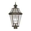 Livex Lighting Georgetown 3 Light Outdoor Post Lantern