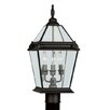 "Livex Lighting Fleur De Lis 3 Light 9"" Outdoor Post Lantern"