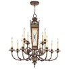 Livex Lighting Bristol Manor Twelve Light Chandelier in Palacial Bronze with Gilded Accents