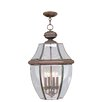 Sea Gull Lighting Classic 3 Light Outdoor Hanging Lantern