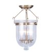 Livex Lighting Jefferson Semi Flush Mount with Seeded Glass