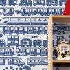 Aimee Wilder Designs Journey 1' x 8'' Robo Rail Wallpaper (Set of 2)