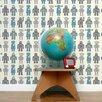"Aimee Wilder Designs Analog 15' x 27"" Robots Wallpaper (Set of 2)"