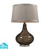 "Dimond Lighting HGTV Home 24"" H Coffee Smoked Table Lamp with Empire Shade"